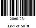 Exit-Code End-of-Shift Barcode